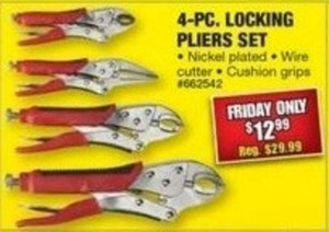 4 pc. Locking Pliers Set