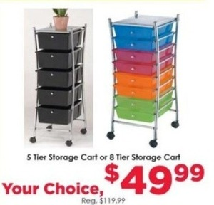 5 or 8 Tier Storage Cart