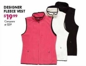 Designer Fleece Vest