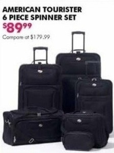 American Tourister 6 Piece Spinner Set