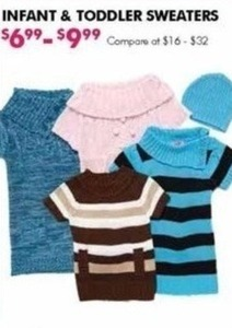 Infant and Toddler Sweaters