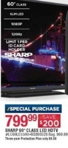 "Sharp 60"" Class LED HDTV"