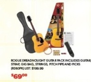 Rogue Dreadnought Guitar Pack