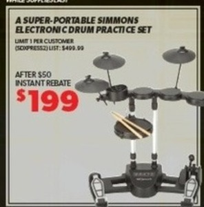 Simmons Electronic Drum Practice Set