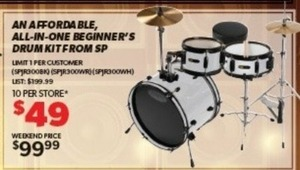 SP All-in-One Beginner's Drum Kit