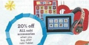 ALL nabi accessories 20% off when you buy ANY nabi Tablet