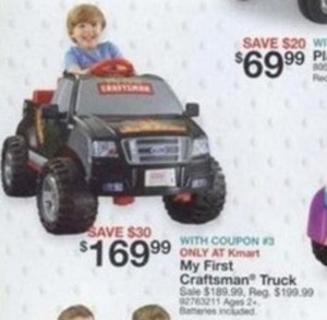 My First Craftsman Truck w/ Coupon #3