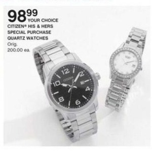 Citizen His & Hers Special Purchase Quartz Watches