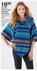 ND New Directions Women's Weekend Sweaters