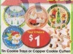 Tin COokie Trays or Copper Cookie Cutters