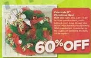 Celebrate It Christmas Mesh