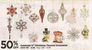 Celebrate It Christmas Themed Ornaments