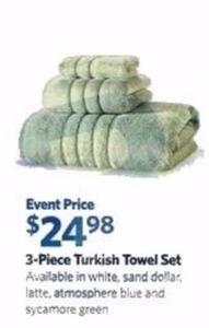 3PC Turkish Towel Set