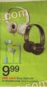 Select Varieties Sony Headphones