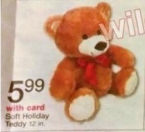 Soft Holiday Teddy