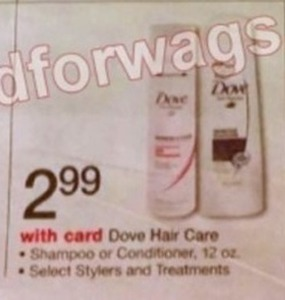 Dove Hair Care Shampoo, Conditioner and Select Stylers and Treatments