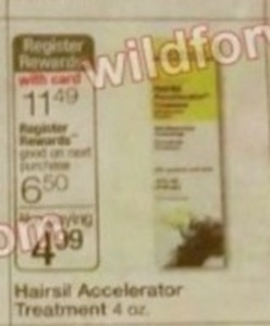 Hairsil Accelerator Treatment + $6.50 Register Rewards