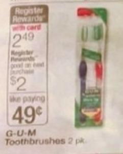 G-U-M 2-Pack Toothbrushes + $2 Register Rewards