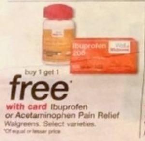 Walgreens Ibuprofen or Acetaminophen Pain Relief