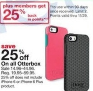 Entire Stock of Otterbox + 25% Back in Points