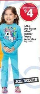 Joe Boxer Infant/Toddler Fleece Separates