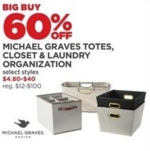 Michael Graves Totes, Closet & Laundry Organization