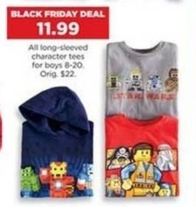 Boys' Long-Sleeved Character Tees