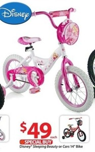 "Disney Cars 14"" Bike"