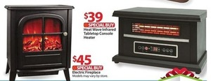 Heat Wave Infrared Tabletop Console Heater