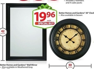 "Better Homes and Gardens 30"" Clock"