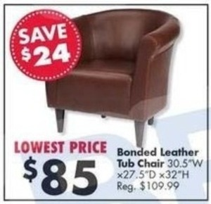Bonded Leather Tub Chair