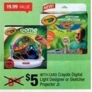 Crayola Digital Light Designer or Sketcher Projector Jr