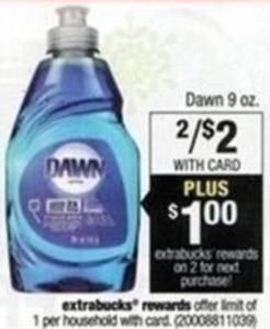 Dawn 9oz + $1 Extrabucks