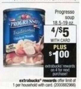 Progresso Soup 18.5 - 19oz + $1 Extrabucks Rewards