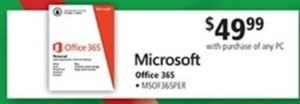 Microsoft Office 365 w/ PC Purchase