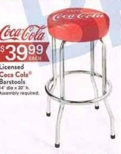 Licensed Coca Cola Barstools