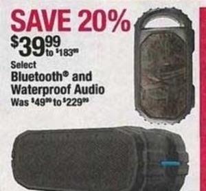 Seelct Bluetooth & Waterproof Audio