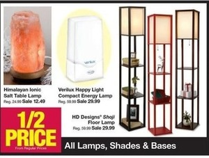 All Lamps, Shades & Bases