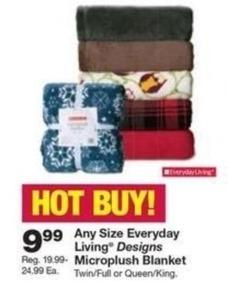 Everyday Living Designs Microplush Blanket