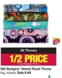 HD Designs Velvet Plush Throw