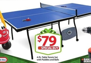 Little Tikes 4pc Table Tennis Set w/ Paddles and Balls