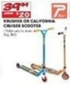 Krusher or California Cruiser Scooter