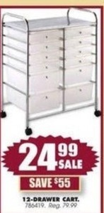 12-Drawer Cart