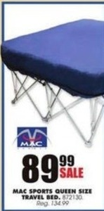 Mac Sports Queen Size Travel Bed