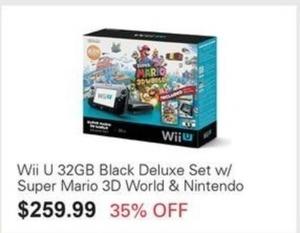 Wii U 32GB w/ Super Mario 3D World