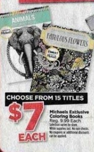 Michaels Exclusive Coloring Books