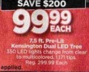 7.5 Ft. Pre-Lit Kensington Dual LED Tree