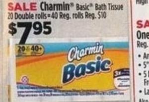 Charmin Basic Bath Tissue 20 Double Rolls