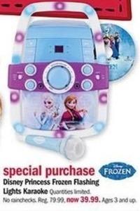 Disney Princess Frozen Flashing Lights Karaoke