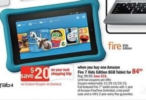 Amazon Fire 7 Kids Edition + $20 Gift Card